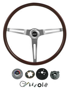 1967-68 Chevelle Steering Wheel Kits, Classic Wood, by Grant