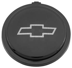 1971-1972 Monte Carlo Steering Wheel Emblem, Four-Spoke Sport (Black with Silver Bowtie)