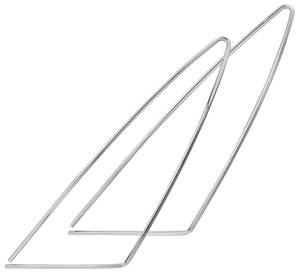 "Opera Window Moldings, 1973-77 Cutlass S & 4-4-2 - Triangle (14"" X 36"")"