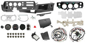 1970 El Camino Dash & Gauge Conversion Kit, Super Sport Floor Shift 6500 RL Tach