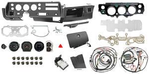 1971 Chevelle Dash & Gauge Conversion Kit, Super Sport Floor Shift 6500 RL Tach