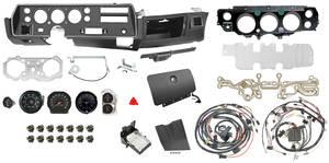 1972-1972 Chevelle Dash & Gauge Conversion Kit, Super Sport Floor Shift 6500 RL Tach, Automatic, Big Block