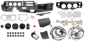 1972-1972 Chevelle Dash & Gauge Conversion Kit, Super Sport Floor Shift 5500 RL Tach, Manual, Big Block