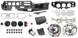 1972 El Camino Dash & Gauge Conversion Kit, Super Sport Floor Shift 6500 RL Tach w/TH400, Small Block