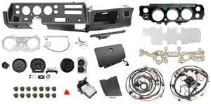 1970 El Camino Dash & Gauge Conversion Kit, Super Sport Column Shift 6500 RL Tach