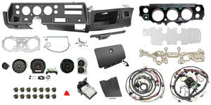 1970 Chevelle Dash & Gauge Conversion Kit, Super Sport Column Shift 6500 RL Tach