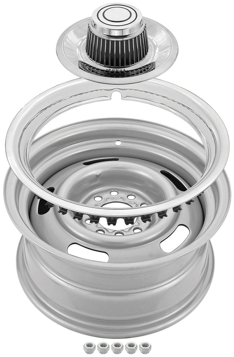 "Photo of Wheel Kits, Reproduction Rally Tall Caps (Plastic) 14"" x 6"""