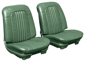 1969-1969 El Camino Bucket Seats, Pre-Assembled w/Headrest