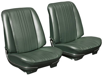 1970 El Camino Bucket Seats, Pre-Assembled w/Headrest
