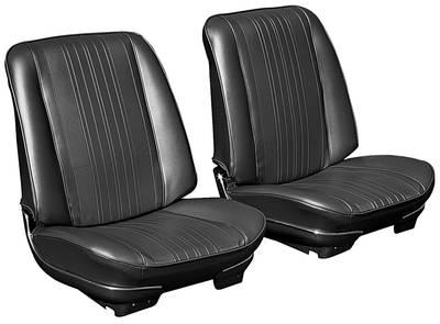 1970 El Camino Bucket Seats, Pre-Assembled w/o Headrest