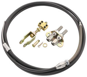 1964-72 Cutlass Brake Cable Kit, Parking Black, by Lokar
