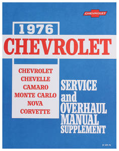 1976-1976 Chevelle Chassis Service Manual