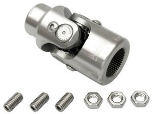 "1969-1972 Grand Prix Steering Column Accessory (Tilt Steering) Steering Column To Shaft U-Joint 1"" - 3/4"" DD Stainless U-Joint - Standard, by Flaming River"