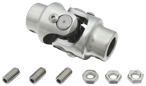 "1969-72 Grand Prix Steering Column Accessory (Tilt Steering) Shaft To Steering Box 13/16"" - 36 X 1"" DD Billet U-Joint"