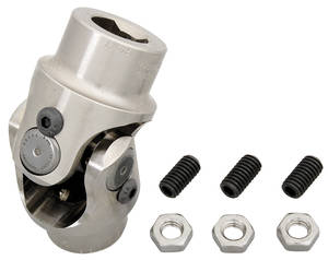 "1969-1972 Grand Prix Steering Column Accessory (Tilt Steering) Shaft To Steering Box 3/4"" - 36 X 3/4"" DD Billet U-Joint, by Flaming River"