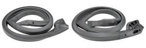 1973-1973 LeMans Roof Rail Weatherstrip LeMans 4-dr. Wagon/HT/Sedan, Front, by Metro Moulded Parts