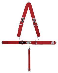 1961-1973 LeMans Seat Belt; Standard Latch & Link V-Style, by Crow Enterprizes