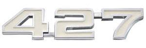 """El Camino Fender Emblem, 1969-74 """"427"""""""