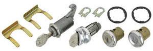 1964 Chevelle Ignition, Door and Glove Box Lock Set Octagon Keys
