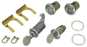 1965-1965 El Camino Ignition, Door and Glove Box Lock Set Octagon Keys