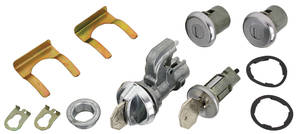 1968 El Camino Ignition, Door and Glove Box Lock Set Octagon Keys