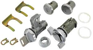 1970-76 El Camino Ignition, Door and Glove Box Lock Set Square Keys