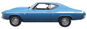 Chevelle Body Stripe Decal, 1969 Yenko