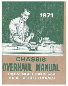 1971 Monte Carlo Chassis Overhaul Manual