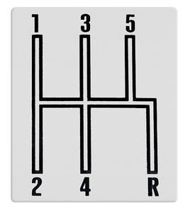 1966-1967 El Camino Console Shifter Indicator Plate, Manual Transmission 5-Spd.