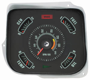 Gauge Conversion Kit, 1968 Chevelle & El Camino 5500 Rpm Redline