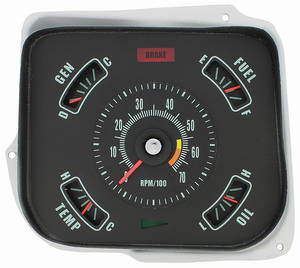 Gauge Conversion Kit, 1968 Chevelle & El Camino 6000 Rpm Redline