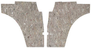 Cutlass Quarter Panel Insulation, 1973-77 Interior Lower