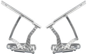 1968 El Camino Hood Hinges, Billet Aluminum For Steel Hoods