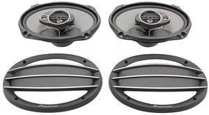 1954-76 Cadillac Stereo Speakers - Pioneer (3-Way, 400 Watts), by Vintage Car Audio