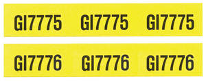 1970-1970 Chevelle Transmission Cooler Line Decals, 1970 GI7775/GJ7776
