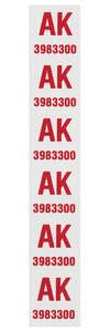 "1972 Monte Carlo Coil Spring Tag Front ""AK, 3983300"" (454)"