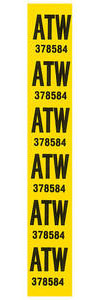 1977 Coil Spring Tag Front Malibu (ATW)