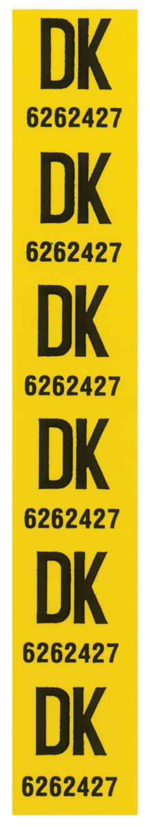"""Photo of Coil Spring Tag Front """"DK, 6262427"""""""
