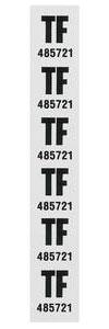 "1977-1977 Monte Carlo Coil Spring Tag Rear ""TF, 485721"""