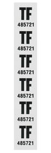 "1977 Monte Carlo Coil Spring Tag Rear ""TF, 485721"""