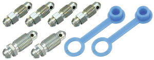 1967-1972 Skylark Brake Bleeder Screw Sets Disc, 8-Pcs.