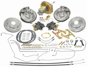 1970-1972 Monte Carlo Brake Kit, Front & Rear (Disc) Standard Booster (Deluxe), by CPP