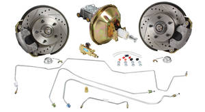 1970-72 Monte Carlo Brake Kit, Drop Spindle Front (Disc) Deluxe Kit Standard Booster