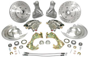 1964-72 Tempest Disc Brake Wheel Kit, Drop Spindle Deluxe