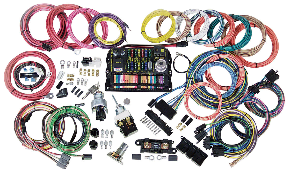 American Autowire 1978 87 T Type Wiring Harness Kit Highway 22 Connector Types Click To Enlarge