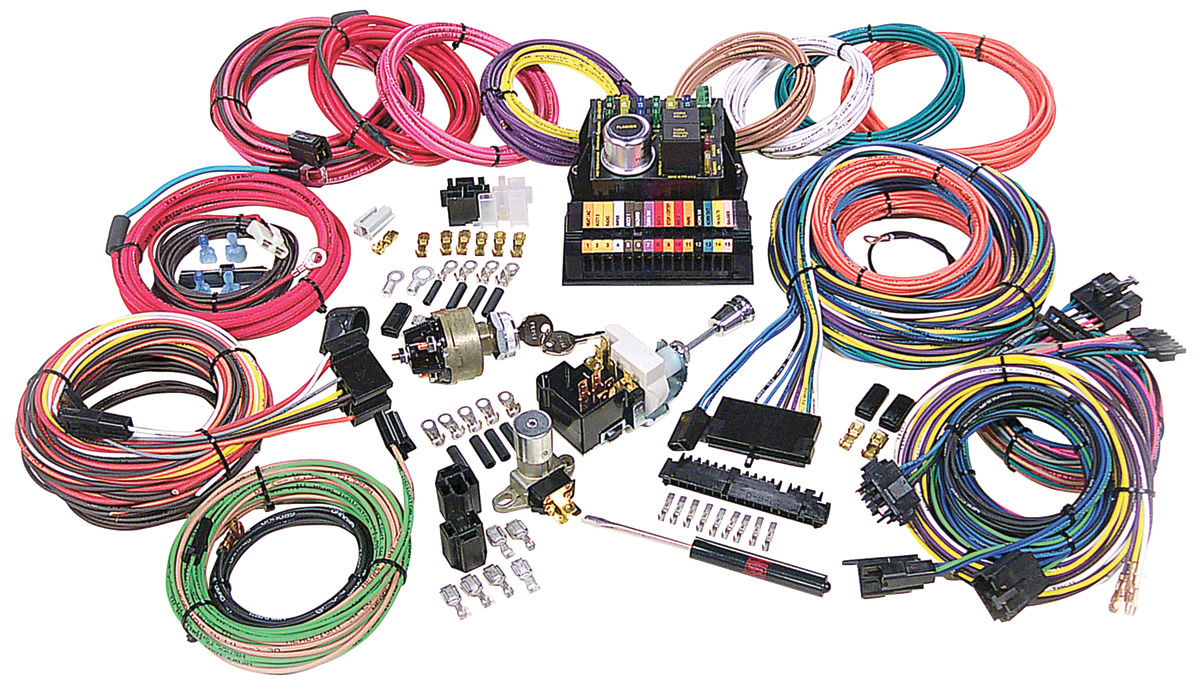 american autowire 1954 76 cadillac wiring harness kit highway 15. Black Bedroom Furniture Sets. Home Design Ideas