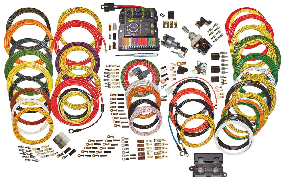 American Autowire 1960 69 Corvair Wiring Harness Kit Highway 15 Clipart Nostalgia