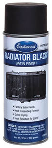 1964-1974 GTO Radiator Black Spray Paint 12-oz., by EASTWOOD