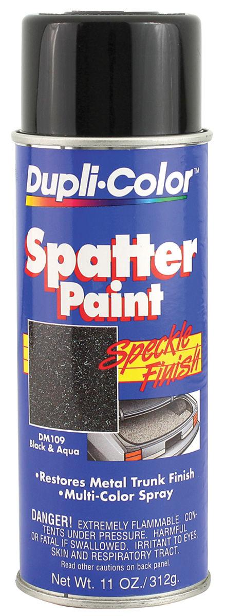 Photo of Trunk Spatter Paint (Aerosol Can) black/aqua, 11-oz.