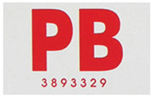 "1967-1967 Chevelle Frame Code Decal Hardtop, ""PB 3893329"""